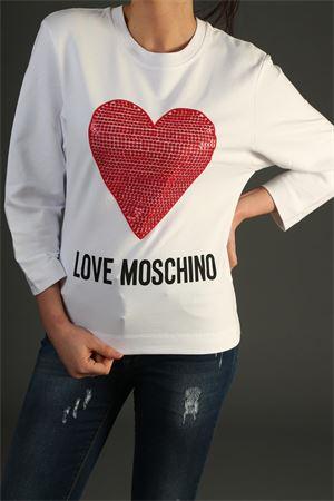 Felpa Love Moschino. love MOSCHINO   30000055   W637102E2017BIANCO