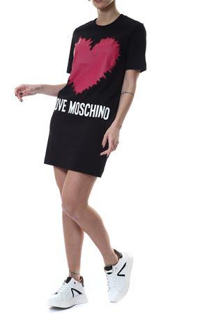 Abito con stampa Love Moschino | 30000047 | W5A0221M3876C74BLACK