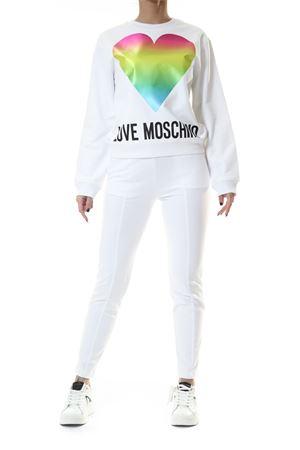 Felpa in cotone Love Moschino | 30000051 | W630638M4266A00WHITE