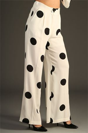 Pantalone Space Style Concept. Space Style Concept | 30000048 | SMPA005BIANCO/NERO
