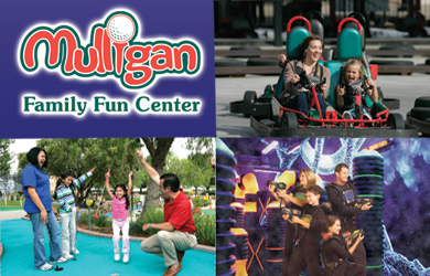 Mulligan Family Fun-$10.99 for an All Day Pass to Mulligan Family Fun Center ($21.99 Value)