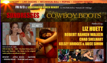 Heyday-$25 for 2 tickets to SUNDRESSES & COWBOY BOOTS featuring LIZ HUETT at Longshadow Ranch Winery on 8/3