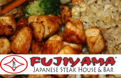 Fujiyama Japanese Steakhouse & Bar-$30 of Food and Drinks at Fujiyama Japanese Steak House & Bar for Only $15!