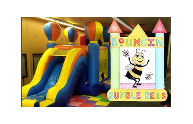 Bouncin Bumble Bees-2 Open Play Passes at Bouncin Bumble Bees for Only $9!