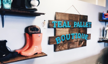 Teal Pallet Boutique-$20 at the NEW Teal Pallet Boutique, for only $10!