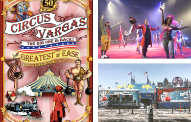 Tabares Entertainment-General Admission Ticket to Circus Vargas March 30- April 1  Multiple Dates and Times Available