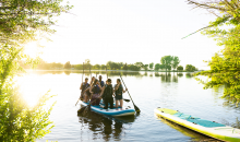 Northwest Paddleboarding-8 Person Paddleboard Rental & Gear for 2-Hours at Howard Amon Park, a $240 Value for ONLY $120!