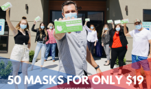 Bella's Office Furniture-61% off a box of 50 (3 ply) Disposable masks!