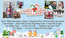 Coconut Grove Candy Cane Village-50% Off a Family 4 pack Admission to Coconut Grove Candy Cane Village December 21st, 22nd, and 23rd