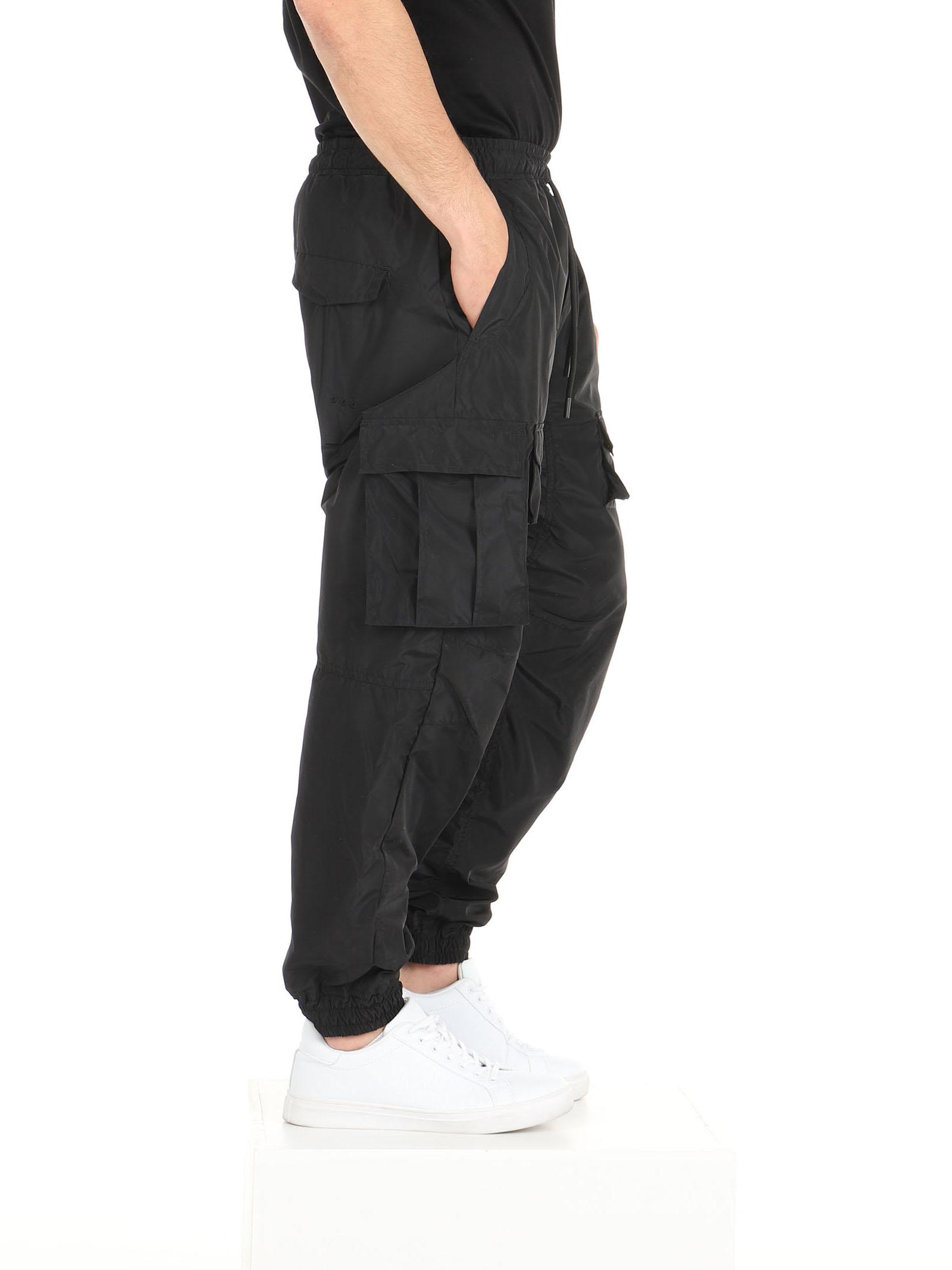 Pantalone tecnico coulisse e tasconi  De Lamp | Pantaloni | DL21 07078NERO