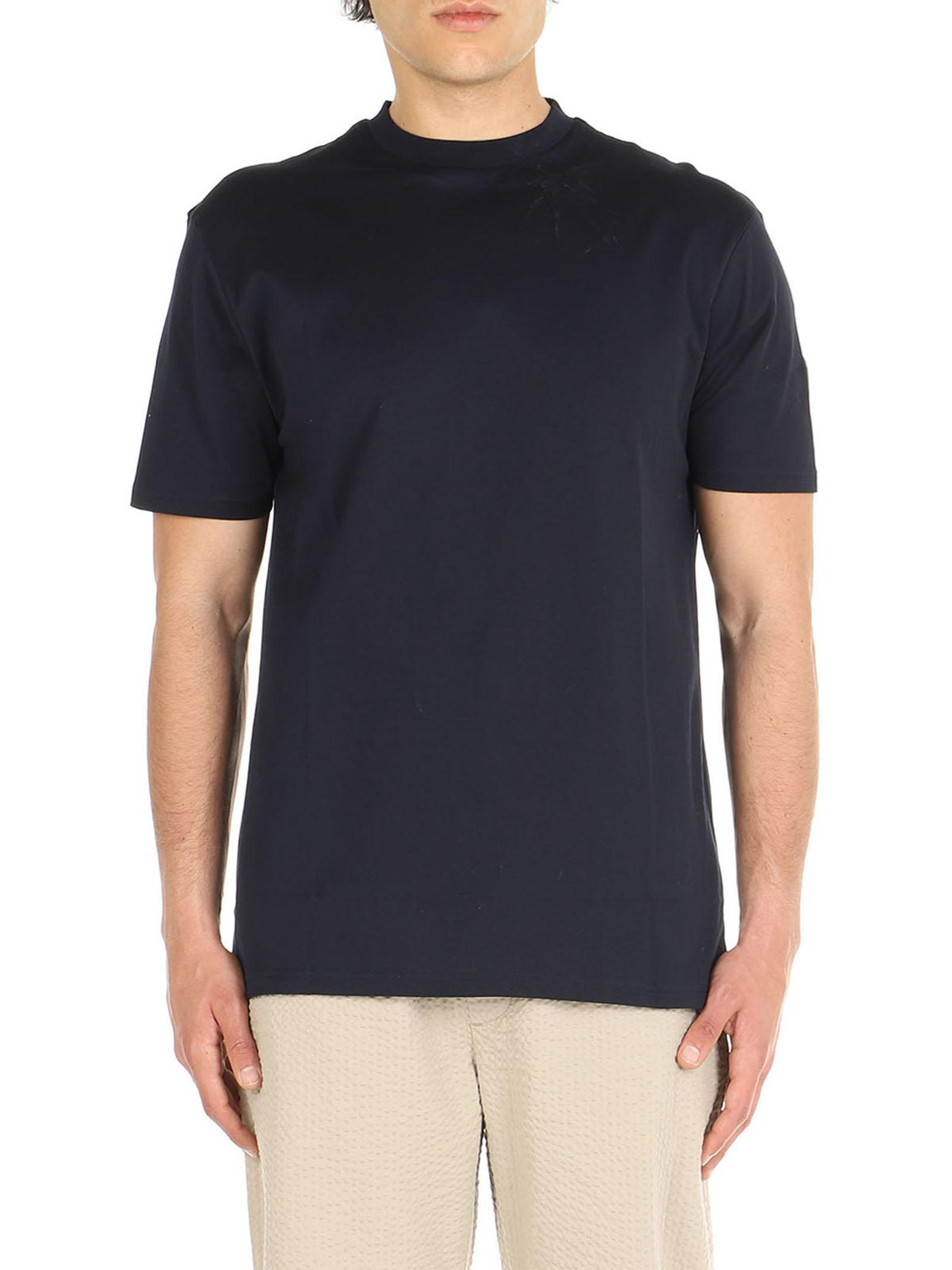 T-Shirt cotone mercerizzato De Lamp   T-Shirt   DL21 08034BLU