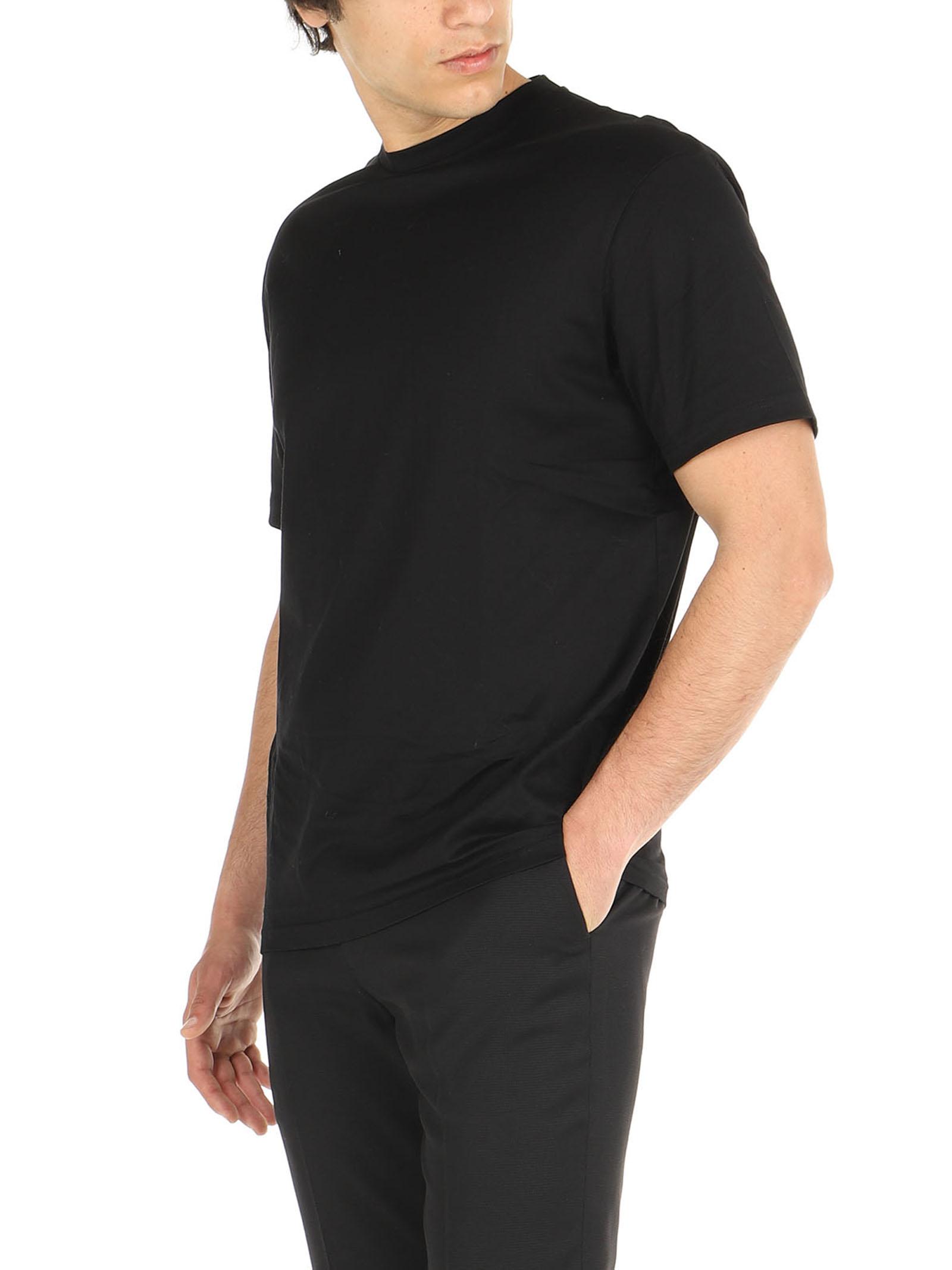 T-Shirt cotone mercerizzato De Lamp   T-Shirt   DL21 08034NERO