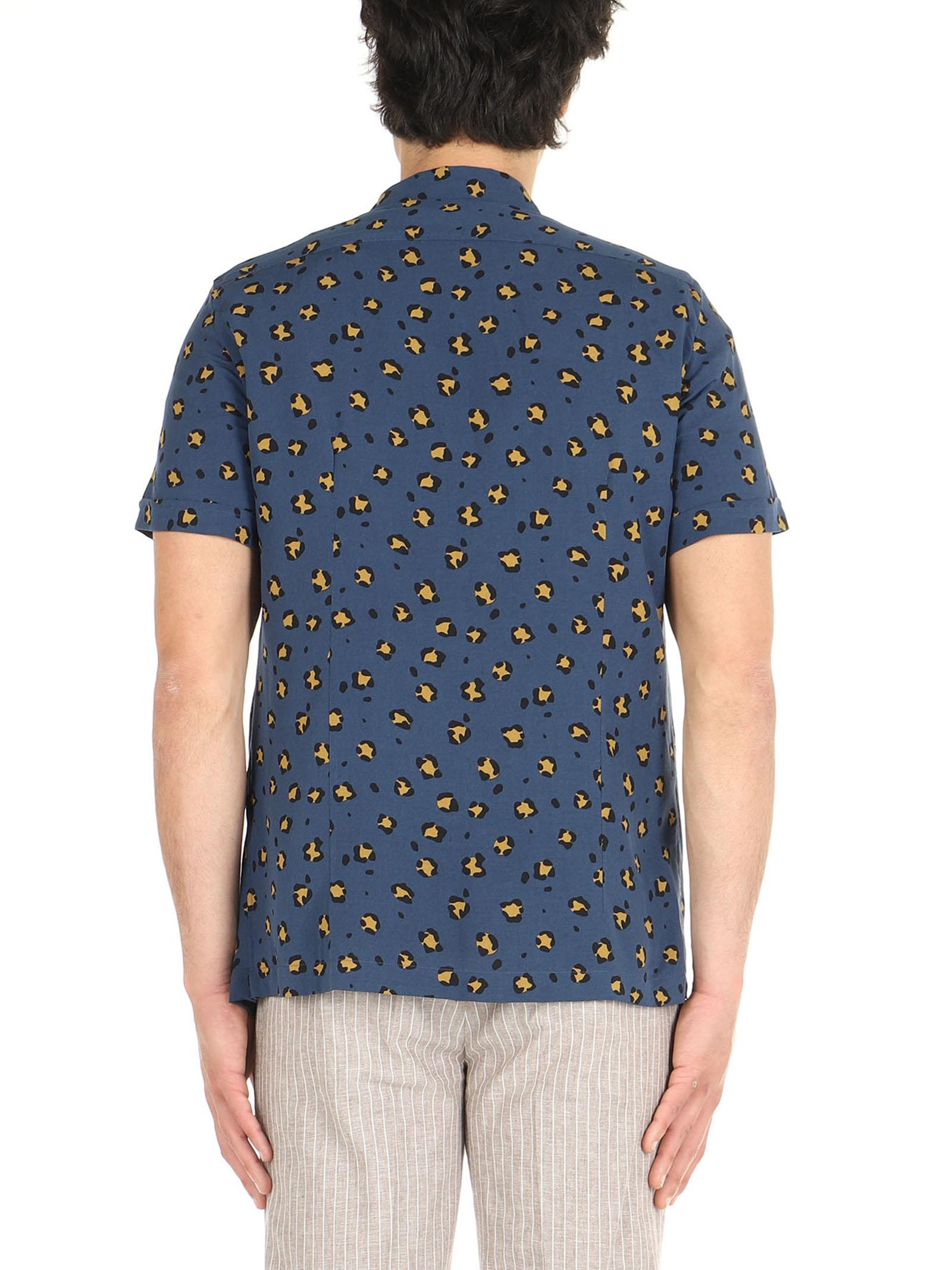 Camicia mezza manica  De Lamp | Camicie  | DL21 082BLU