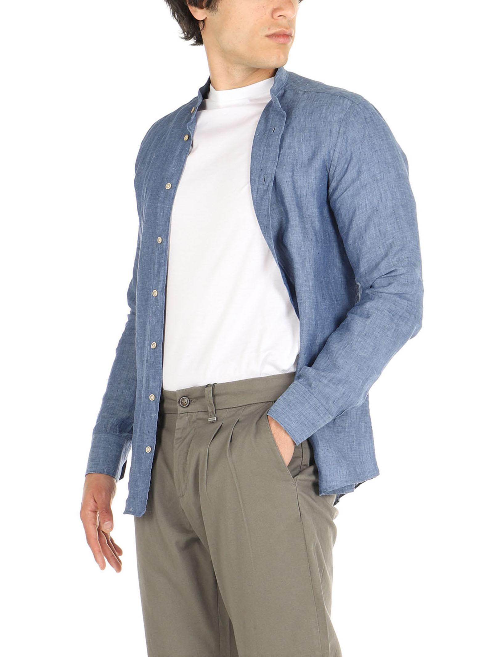 Camicia di lino collo coreano De Lamp   Camicie    dl21 3000CAVION