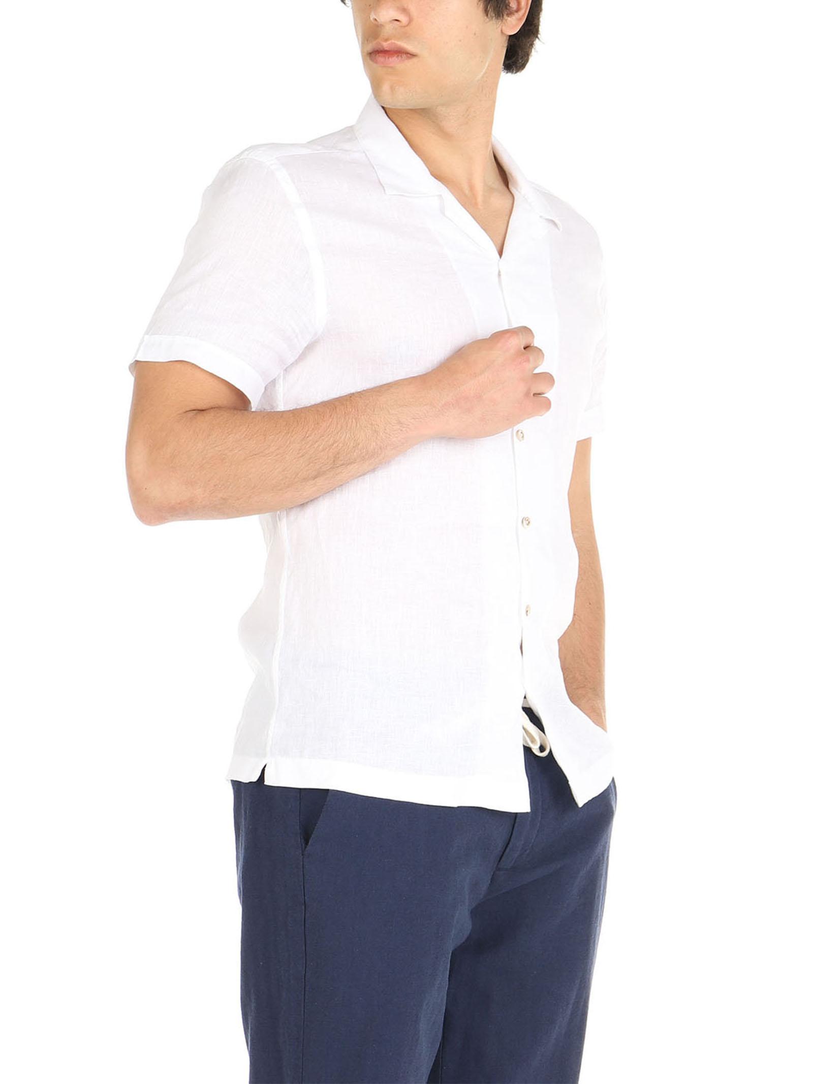 Camicia di lino mezze maniche De Lamp   Camicie    DL21 3000MMBIANCO