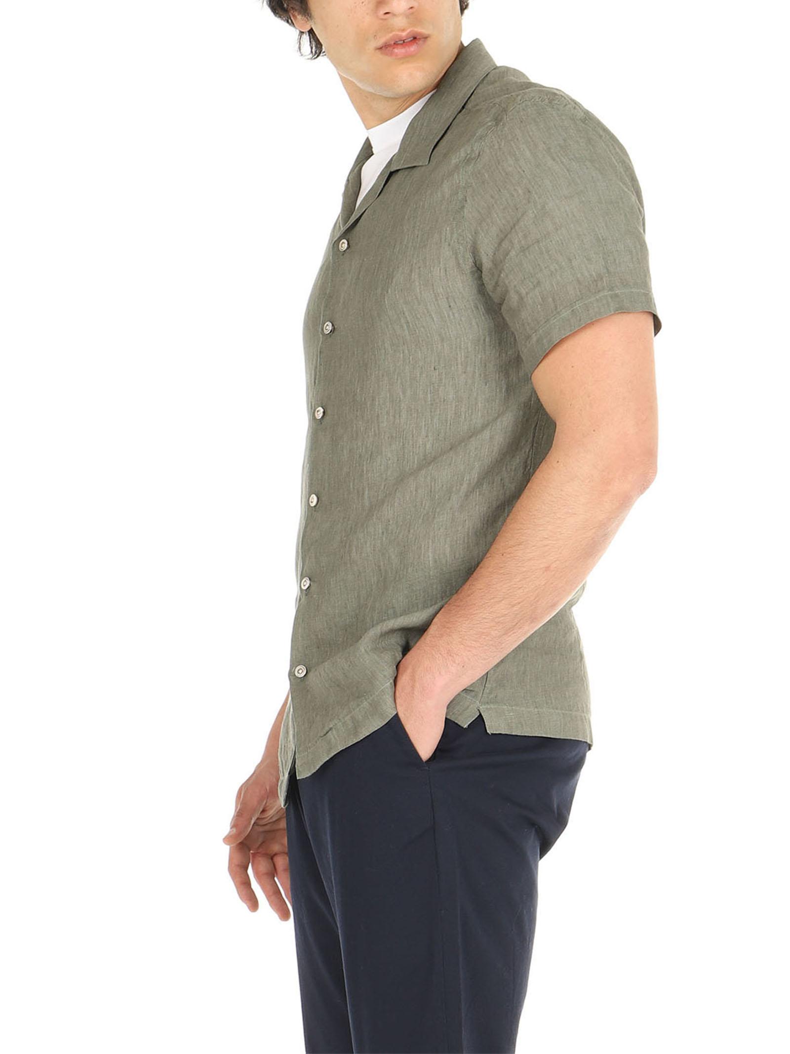 Camicia lino mezze maniche De Lamp | Camicie  | DL21 3000MMVERDE