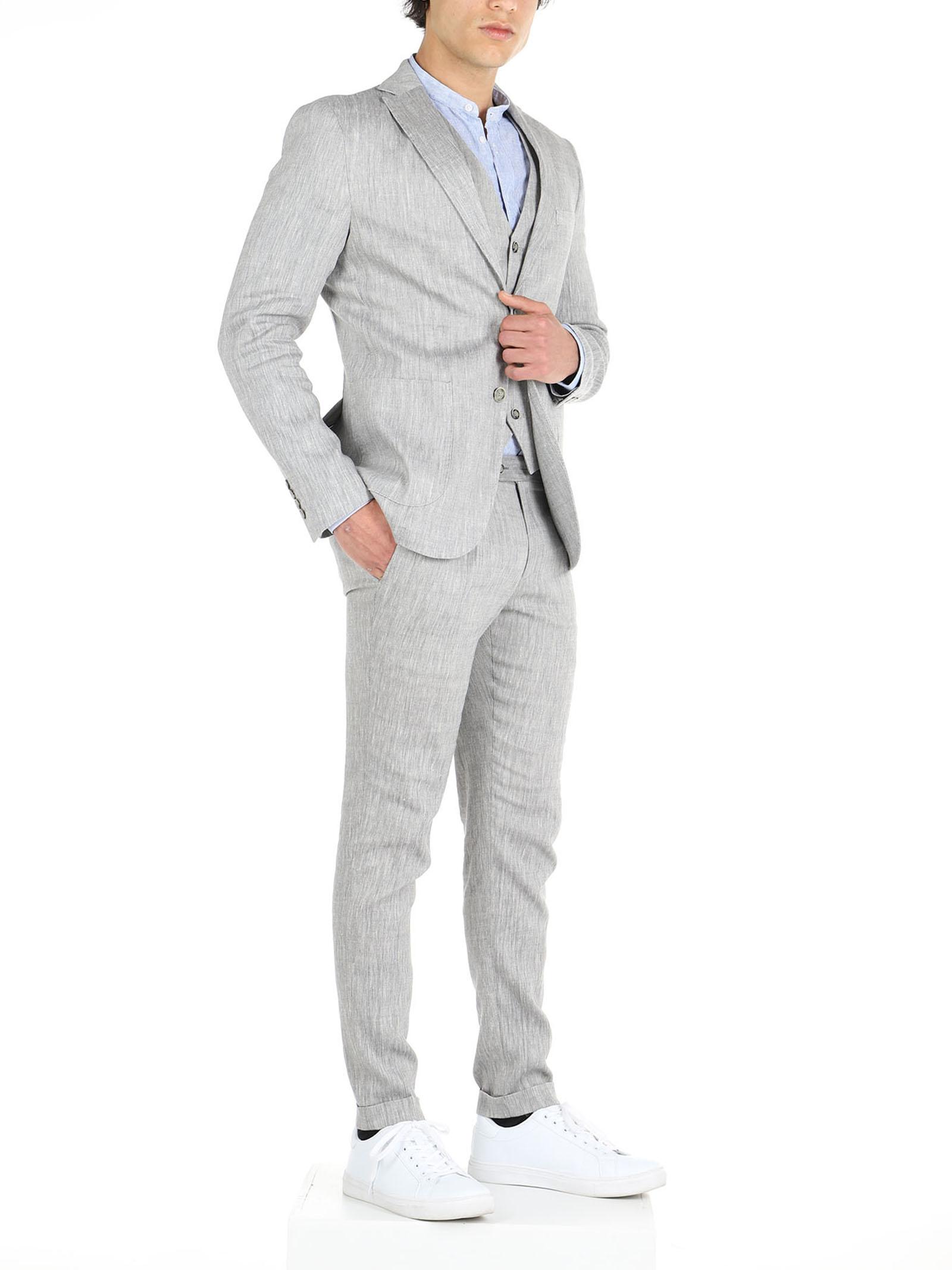 Semi lined 2 button jacket with patch pocketrnrn De Lamp | Abiti | DL21 A04008GRIGIO