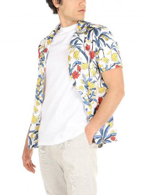 Camicia mezze maniche fantasia De Lamp | Camicie  | 083BIANCO