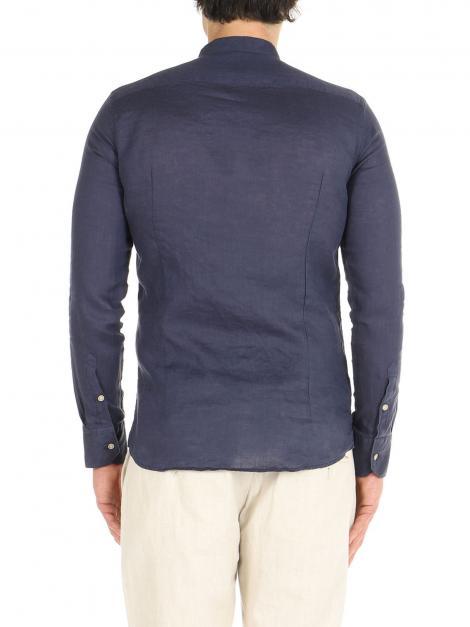 Camicia di lino collo coreano De Lamp | Camicie  | dl21 3000CBLU