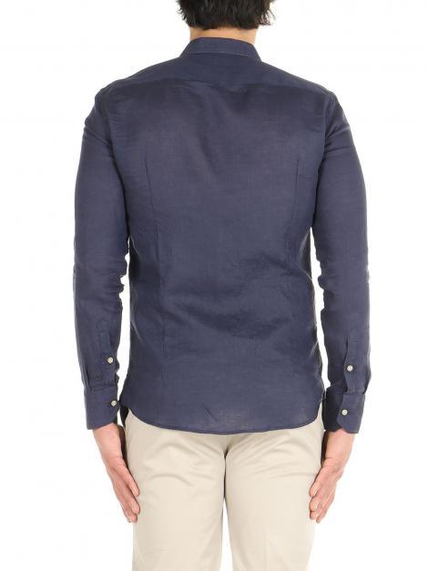Camicia lino maniche lunghe De Lamp | Camicie  | DL21 3000DXBLU