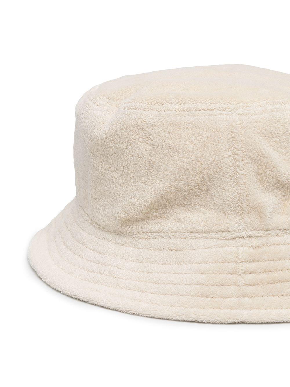 Gcds cappello bucket con applicazione uomo white grey GCDS | Cappelli | SS21M01007957