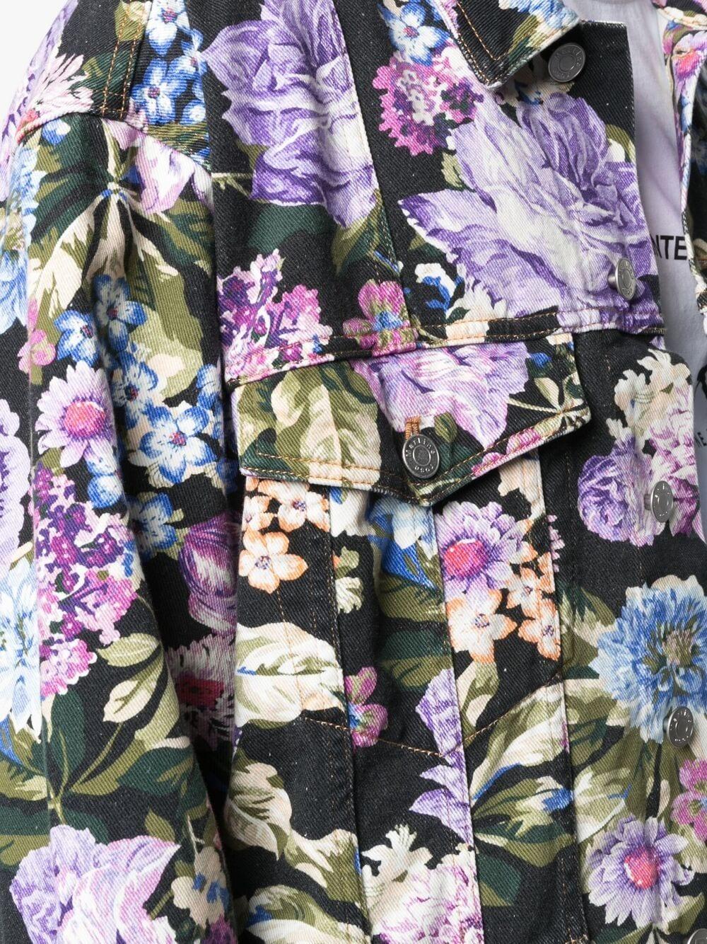 Martine Rose giacca a fiori uomo black purple blue MARTINE ROSE | Capispalla | MR201FMR976