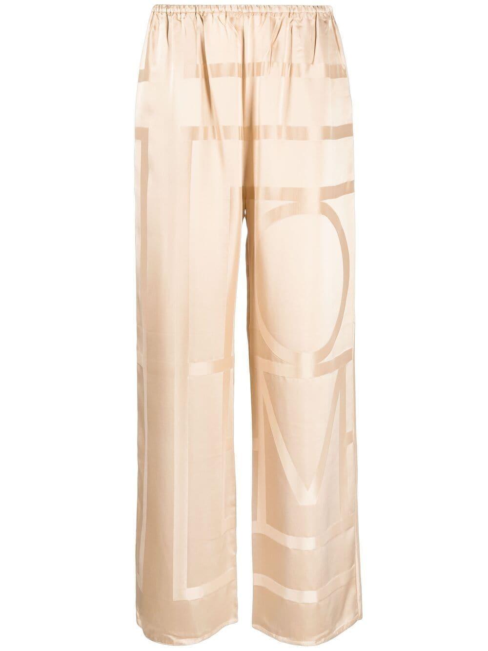 Toteme pantalone cafe au lait donna TOTEME   Pantaloni   212255724803