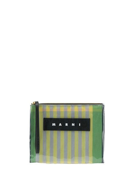 Striped clutch bag MARNI | Clutch bags | PHMO0001Q2P2740STC37