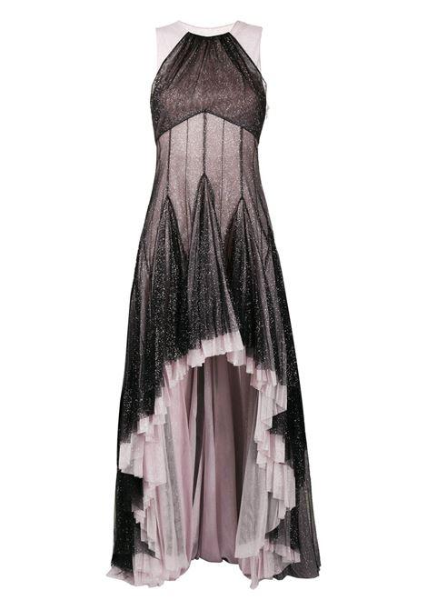 Pleated hem glitter gown PHILOSOPHY DI LORENZO SERAFINI | Dresses | A044471383555