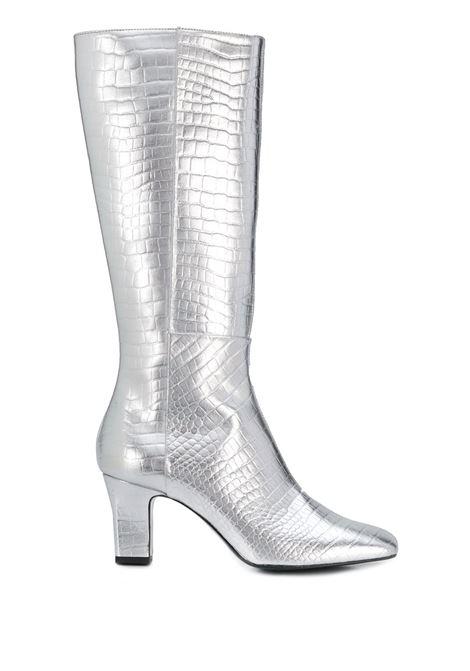 Metallic pointed boots LES PETITS JOUEURS | Boots | BAOVC25SLVR