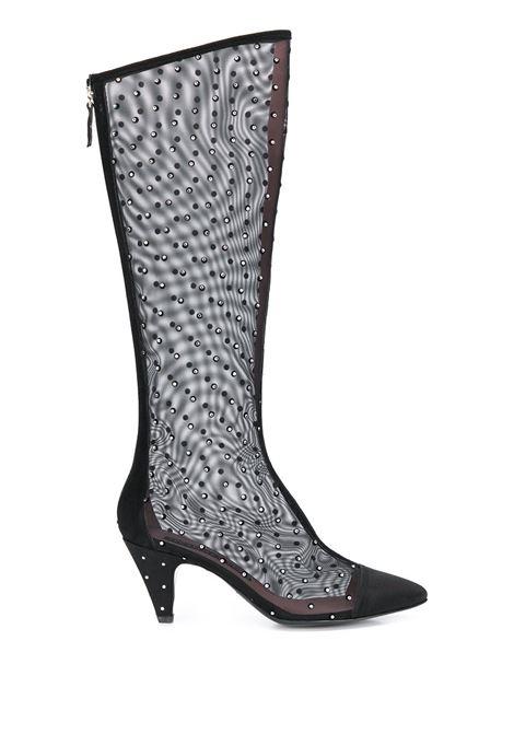 Mesh high boots LES PETITS JOUEURS | Boots | FLONP01BLK