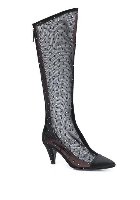 Mesh high boots LES PETITS JOUEURS | FLONP01BLK