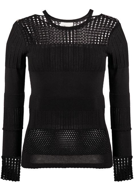 Crochet-panel jumper 3.1 PHILLIP LIM | Sweaters | P2027615LSNBA001
