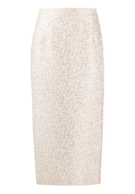 Embroidered midi skirt ALESSANDRA RICH | Skirts | FAB1817F2951032