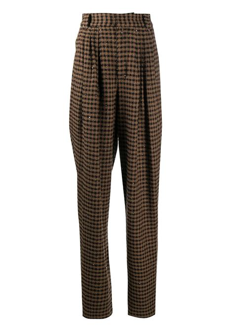 Check high-rise tailored trousers ALESSANDRA RICH | Trousers | FAB2228F29491657