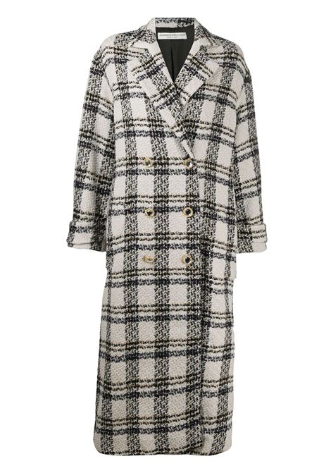 Double-breasted check coat ALESSANDRA RICH | Outerwear | FAB2286F2957822