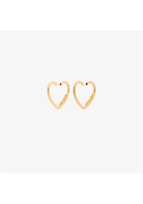 Logo heart earrings AMBUSH | BMOD006F20MET0017676