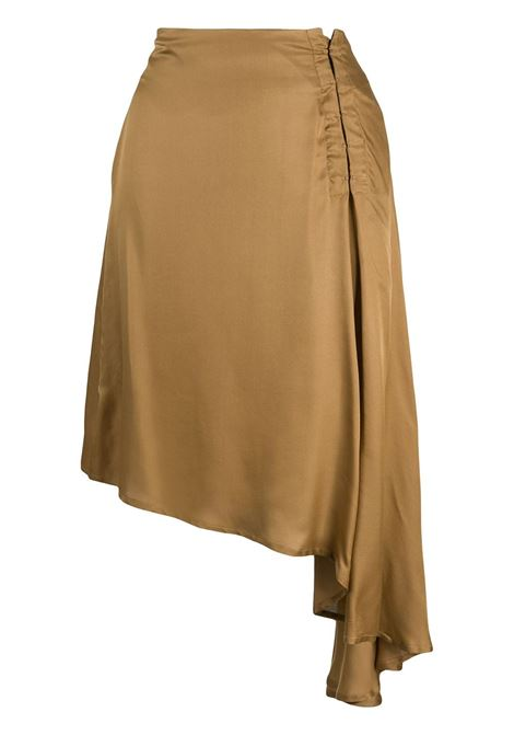 Asymmetrical draped skirt ANN DEMEULEMEESTER | Skirts | 20021612122029