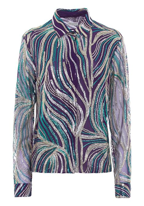 Seguined sheer shirt DRIES VAN NOTEN | Shirts | 202107121421401