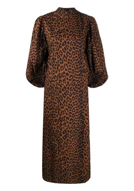 Pouf-sleeve dress GANNI   Dresses   F4768896