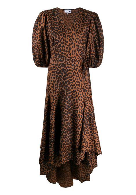Abito leopardato GANNI | Abiti | F4978896