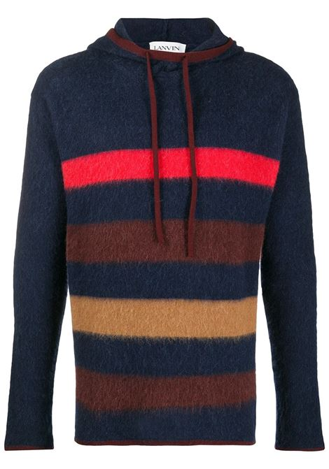 Striped knitted hoodie LANVIN | Sweatshirts | RMPO0004MV02A2029