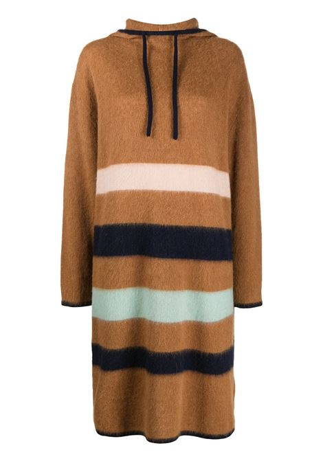 Striped hooded knitted dress LANVIN | Sweaters | RWDR307MMV02A20S8