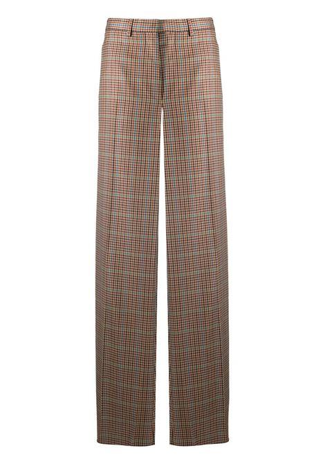 Wide-leg check trousers LANVIN | Trousers | RWTR510U4674A20081