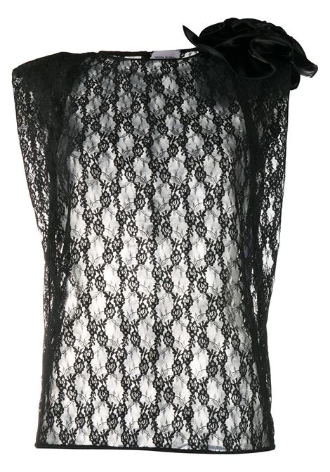 Sleeveless lace blouse MAGDA BUTRYM | Blouses | PF20BLOUSE01BLK
