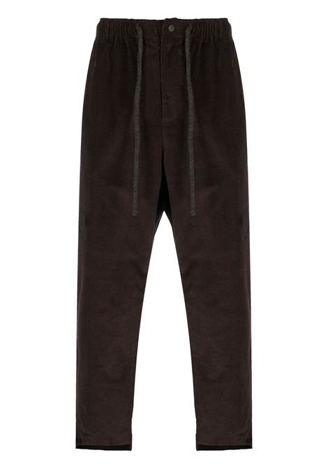 Drop-crotch trousers MAISON FLANEUR | Trousers | 20WMUPA140TE138DRKBRWN