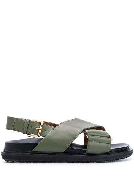 Crossover strap sandals MARNI | Sandals | FBMS005201P361400V69