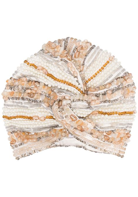 Beaded turban MARYJANE CLAVEROL | Hair accessories | 0150019650CHMR