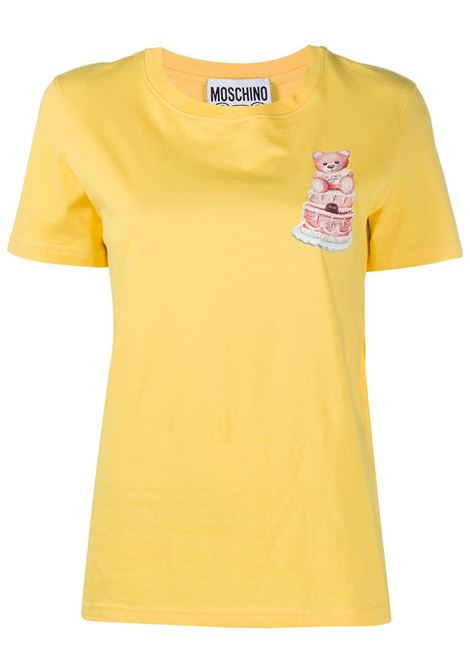 T-shirt con stampa Teddy Cake MOSCHINO | T-shirt | A070954401026