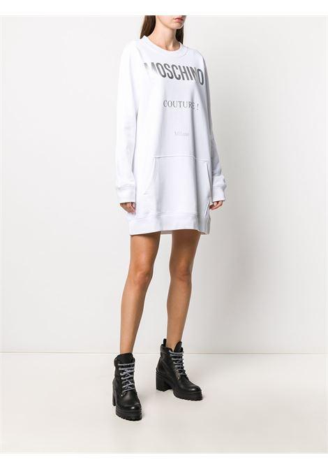 Vestito felpa con logo Couture Donna MOSCHINO | J044355271001